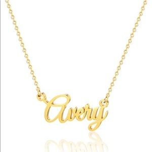 Gold Avery Name Necklace